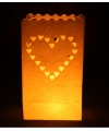 Candle bag set hart 26 cm