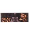 Canvas schilderij met led licht buddha type 1