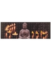 Canvas schilderij met led licht buddha type 2
