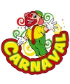 Carnaval decoratiebord clown 35 x 40 cm