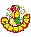 Carnaval decoratiebord clown 35 x 40 cm