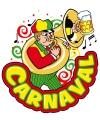 Carnaval decoratiebord muzikant 35 x 40 cm