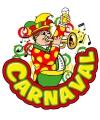 Carnaval decoratiebord muzikant met trompet 35 x 40 cm