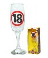 Champagne glas 18 jaar verkeersbord