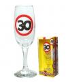 Champagne glas 30 jaar verkeersbord
