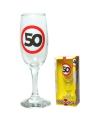 Champagne glas 50 jaar verkeersbord