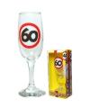 Champagne glas 60 jaar verkeersbord