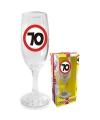 Champagne glas 70 jaar verkeersbord