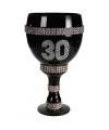 Champagne glas met glitter 30 jaar