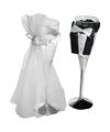 Champagneglas bruid en bruidegom