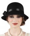 Charleston hoed zwart voor dames