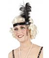 Charleston hoofdband zwart