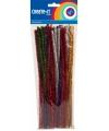 Chenilledraad diverse kleuren met glitters 30 cm 50 st