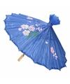 Chinese paraplu donkerblauw 50 cm