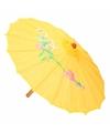Chinese paraplu geel 40 cm