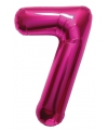 Cijfer 7 ballon roze 86 cm