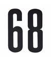 Cijfer sticker 68 zwart 10 cm