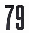 Cijfer sticker 79 zwart 10 cm
