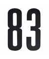 Cijfer sticker 83 zwart 10 cm