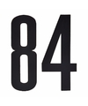 Cijfer sticker 84 zwart 10 cm