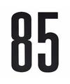 Cijfer sticker 85 zwart 10 cm