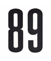 Cijfer sticker 89 zwart 10 cm