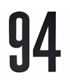Cijfer sticker 94 zwart 10 cm