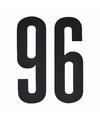 Cijfer sticker 96 zwart 10 cm