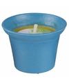 Citronella kaars 10 cm blauw