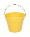Citronella kaars 14 cm geel