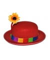 Clowns hoedje met bloem