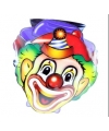 Clownsmaskers van karton 4 stuks