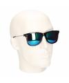 Clubmaster zonnebril met spiegel glazen
