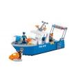 Cobi politieboot bouwstenen set