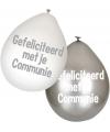 Communie ballonnen 6 stuks