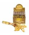 Confetti kanon metallic goud 20 cm