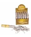 Confetti kanon metallic zilver 20 cm
