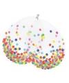 Confetti thema ballonnen 6 stuks