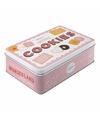 Cookies bewaarblik roze 23 cm