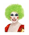 Crazy clown pruik groen