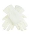 Creme kleurige fleece handschoenen