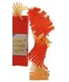 Crepe slinger rood geel wit 6 meter