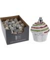 Cupcake hangdecoratie setje zilver