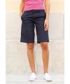 Dames bermuda shorts navy blauw