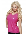 Dames top roze met pailletten