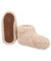 Dames wollen pantoffels bruin