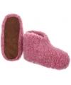 Dames wollen pantoffels roze