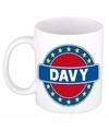 Davy naam koffie mok beker 300 ml