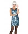 Dazzle jurkje blauw met pailletten