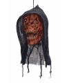 Deco horror afgehakt pompoenen hoofd met capuchon